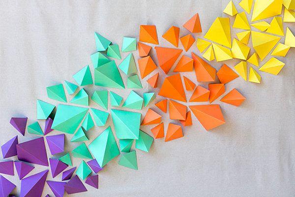 wand dekorieren mit papier als kreative wandgestaltung kinderzimmer