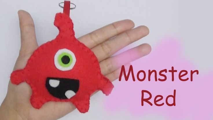 Monster Friends RED Felt Craft For Kids - Easy Craft Handmade - Nursery ...