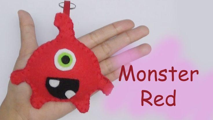 Monster Friends RED Felt Craft For Kids - Easy Craft Handmade - Nursery ...