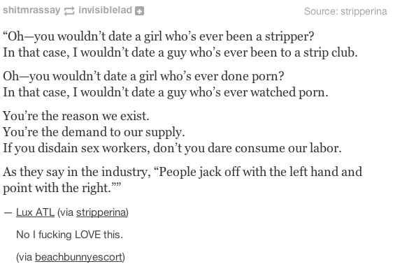 On sex (work): | The 19 Realest Tumblr Posts About Misogyny