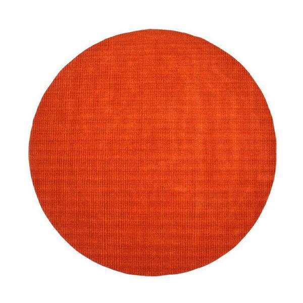 Attractive St. Croix Trading Pulse Orange Round: 6 Ft. X 6 Ft. Rug