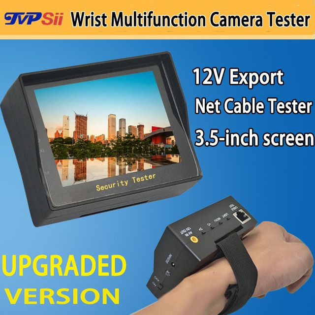 3.5 inch TFT LCD MONITOR COLOR Surveillance CCTV Analog Camera Tester With Network Cable Test Function Free shipping
