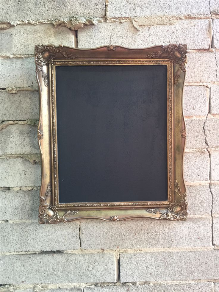 Gold Ornate Framed Chalkboard erfect for your drinks menu, wishing well sign, guest book sign or sharing a little quote.   For Hire in Melbourne    Also find us on instagram @thesmallthingsco