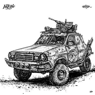 Mad Max Dacia 1330 - www.grafo.ro