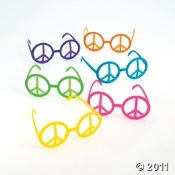ideas for the girls' birthday...peace sign glasses...party favor?