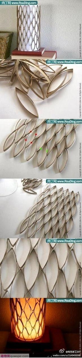DIY SUPER IDEAS: Beautiful Cardboard Lampshade