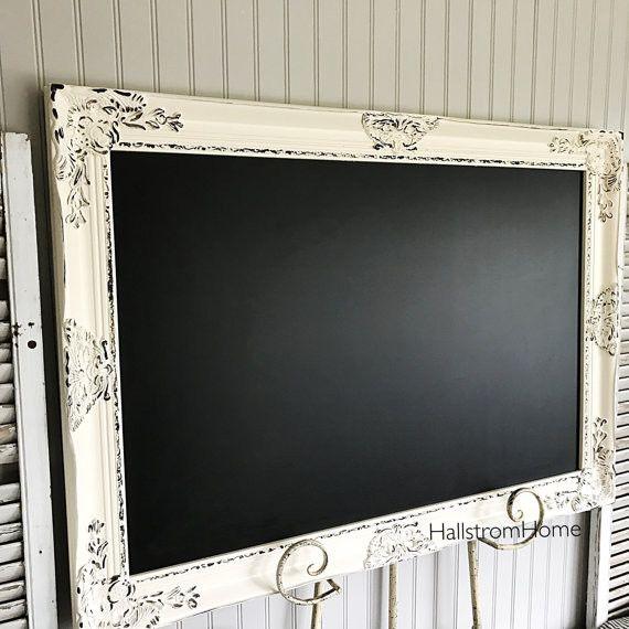 Ivory Distressed Wedding Chalkboard