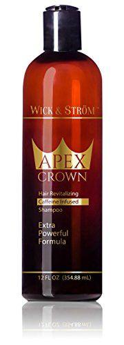 Premium Anti Hair Loss Shampoo -Wick & Ström- NO Minoxidil (Caffeine, Biotin, Saw Palmetto, Aloe Leaf, Ketoconazole +.)Formulated to Stimulate Hair Growth for Men & Women /BIGGER 12oz  //Price: $ & FREE Shipping //     #hair #curles #style #haircare #shampoo #makeup #elixir
