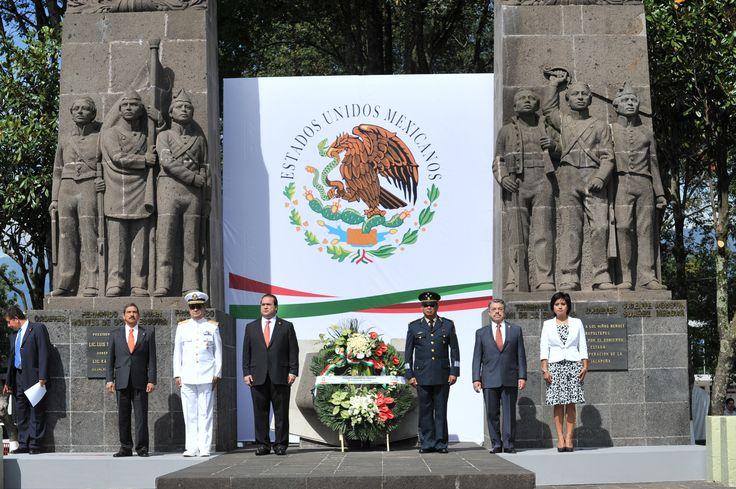 El gobernador del estado de Veracruz, Javier Duarte de Ochoa dio banderazo de salida a la caminata conmemorativa a los Niños Héroes, evento que se llevó a cabo con motivo del 164 Aniversario de la Batalla de los Niños Héroes.