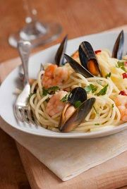 Healthy and Delicious Mussel Pasta with Argan oil