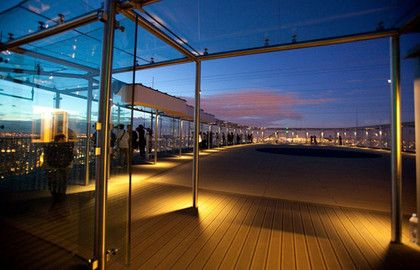 Le Bar Americain, open til 1am on the 56th floor of Tour Montparnasse.. get a drink there rather than pay the same for the lift to the visitor center (15th arr)