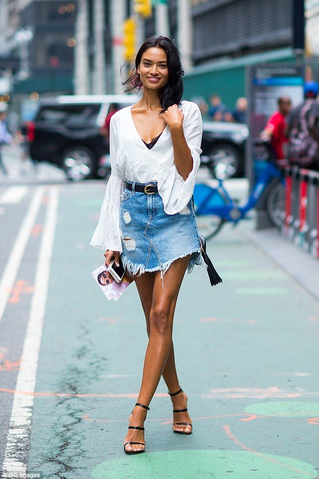 Shanina Shaik auditions for the Victoria's Secret show