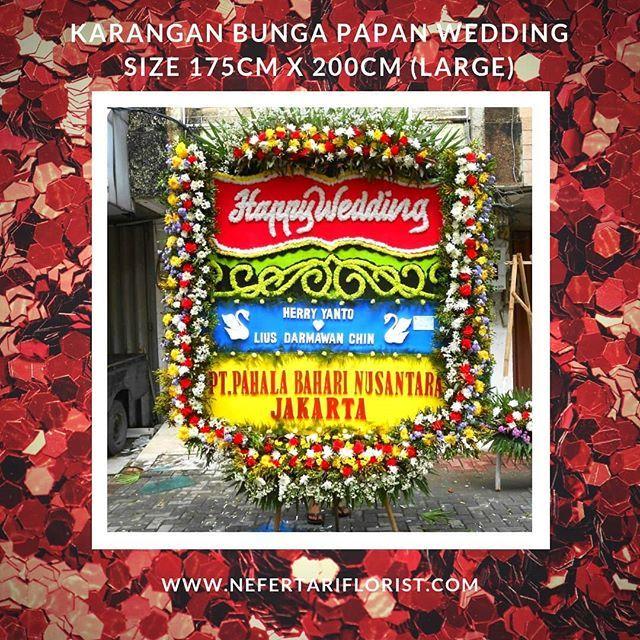 Karangan Bunga Papan Wedding Harga Mulai Rp.450.000