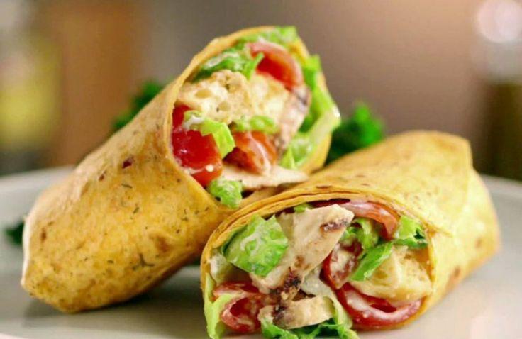 Wrap met avocado, kip en limoenmayonaise
