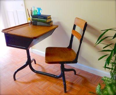 Antique school desk.