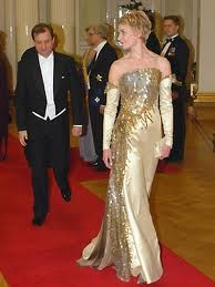 Fashion by Finnish fashion designer Jukka Rintala. At the President's Palace on the Independence Day Ball.
