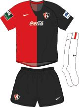 Club Atlas of Mexico home kit for 2003-04.
