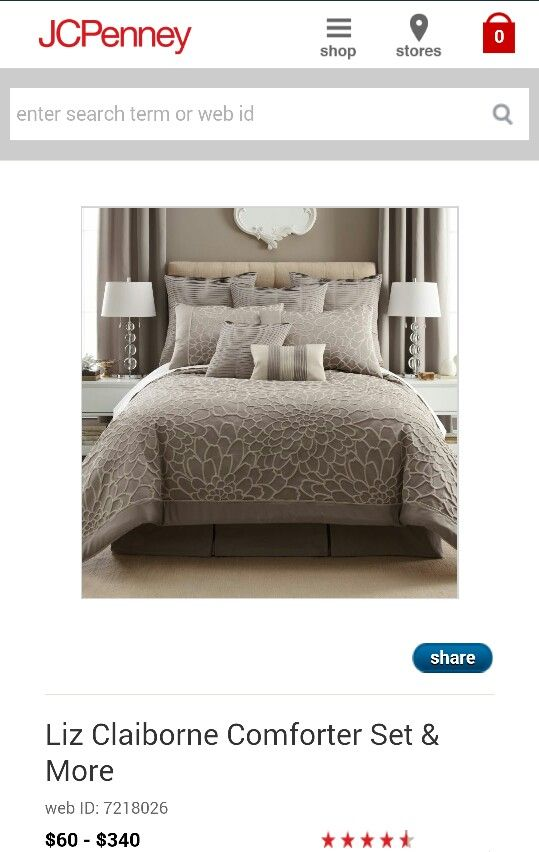 Jcpenney liz claiborne comforter set decor and furniture for my future home pinterest for Jcpenney bedroom furniture sale