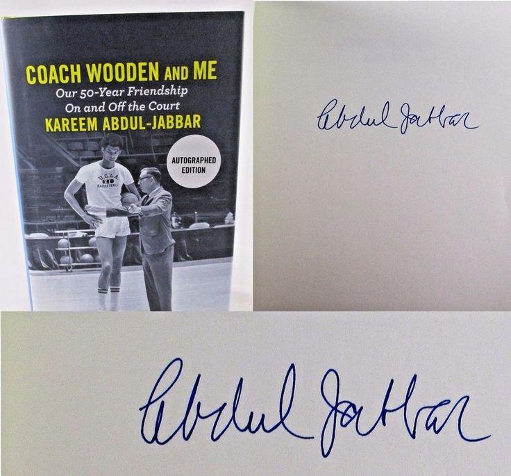 Coach Wooden and Me Kareem Abdul-Jabbar SIGNED 1st ED 1st Print NBA NCAA Book.  Available at BooksBySam.com