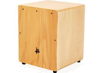 Junior Cajon Box. A wonderful way to discover tones & sounds. The child sits on top of the box and taps or slaps their hands around the cajon box.