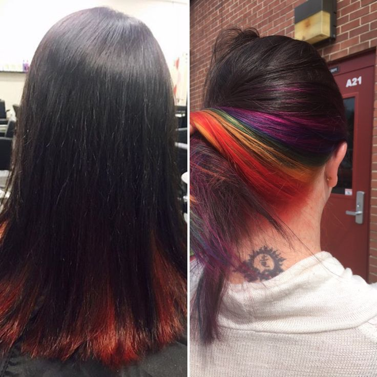 Rainbow hair by me. #TIGI is the paint! #hair #hairstylist #hairstyle #instahair #behindthechair #modernsalon #blonde #americansalon #balayage #beauty #baylage #ombre #hairstyles #haircut #beautylaunchpad #imallaboutdahair #hairpainting #olaplex #mermaidhair #fashion #style #hotonbeauty #beautiful #colormelt #color #hairbrained #highlights #pretty