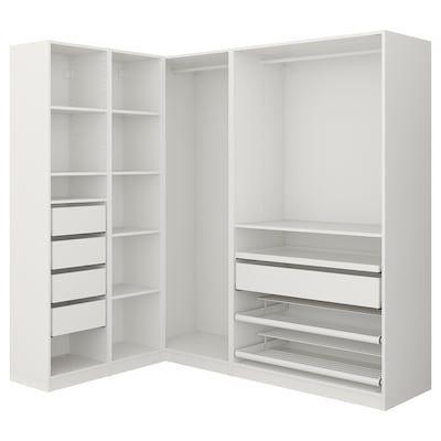 pax wardrobe white 68 7 8x22 7 8x79 1 4 ikea in 2021 corner