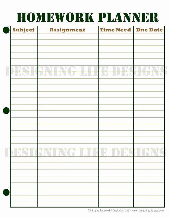 Homework Sheet Weekly Homework Weekly Homework Sheet