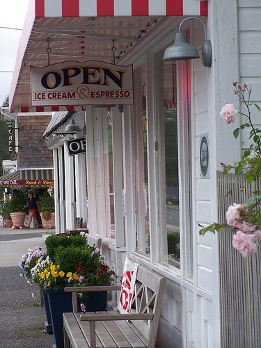 Ice cream store in your favorite lakeside town