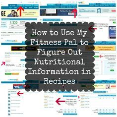 How to use My Fitness Pal to Figure Out Nutritional Information in Recipes #organizeyourselfskinny