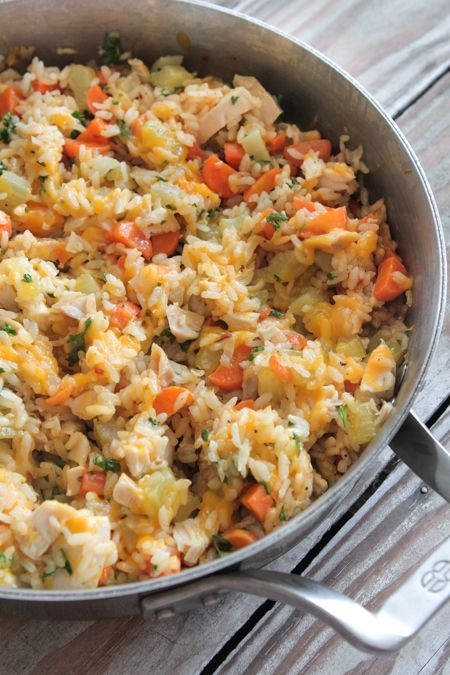 Weeknight Cheesy Chicken and Rice Prep time: 15 min | Cook time: 15 min | Total time: 30 min Ingredients 3 tablespoons extra virgin olive oil 2 cups diced carrots 1 cup diced celery 1 cup chopped white onion 1 tablespoon fresh minced garlic 2 cups chicken broth 1 1/2 cups white rice 1 teaspoon …