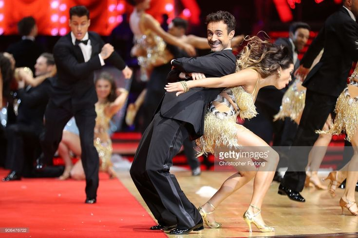 Joe McFadden and Katya Jones attend the 'Strictly Come Dancing' Live! photocall at Arena Birmingham, on January 18, 2018 in Birmingham, England. Ahead of the opening on 19th January 2018. The live show will be touring the United Kingdom until 11th February 2018.