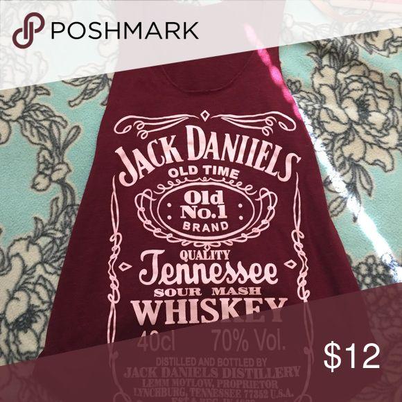 Jack Daniels tank Maroon Jack Daniels tank top Tops Tank Tops