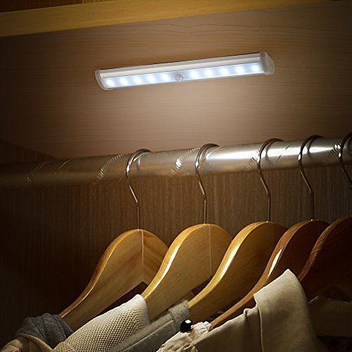 10 LED Luce Wireless Notturna Luce per Armadio / Lampada per Scala Portatile con Striscia Magnetica LED Sensore Movimento (Bianco), http://www.amazon.it/dp/B0181RMWWC/ref=cm_sw_r_pi_awdl_cfLVwb0KTQMN1