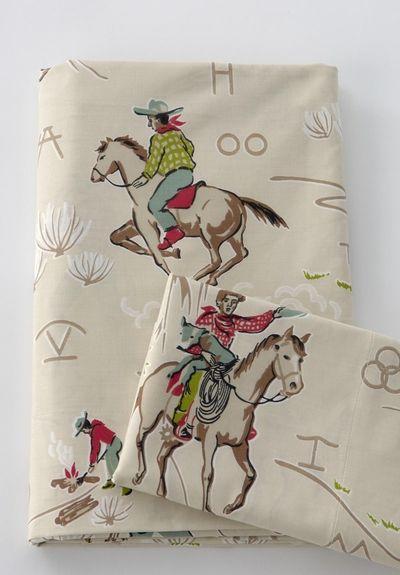 retro cowboy sheets @Amanda Snelson Snelson Snelson Carr @Sherri Levek Levek Levek Halsell--you'll love these!!:))