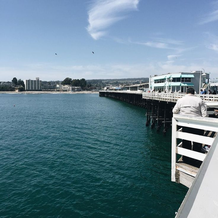 Santa Cruz CA: Почти километровый причал ведущий в залив Монтерей  #bayarea #california #santacruz #pier #monterey #beach by vlastjuk