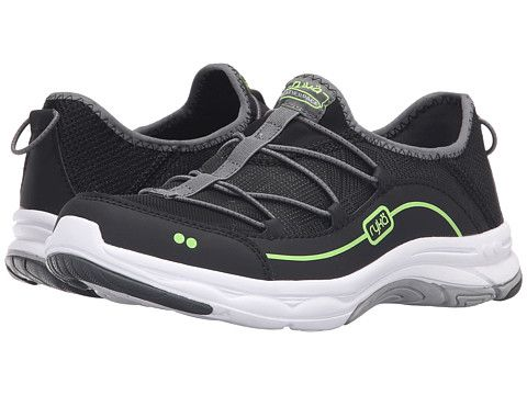 Womens Athletic Shoes ryka iron black grey feather pace lime shock tf1e45u4