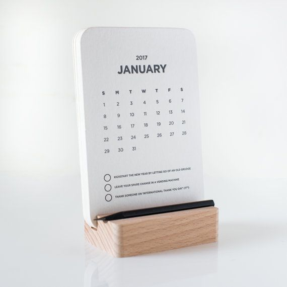 MFGD 2017 Desk Calendar by MadeFromGoodDeeds on Etsy
