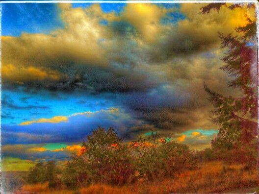 Nubes en campo