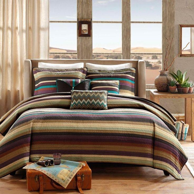 Southwest Coverlet Set Stripes Southwestern Bedding Native