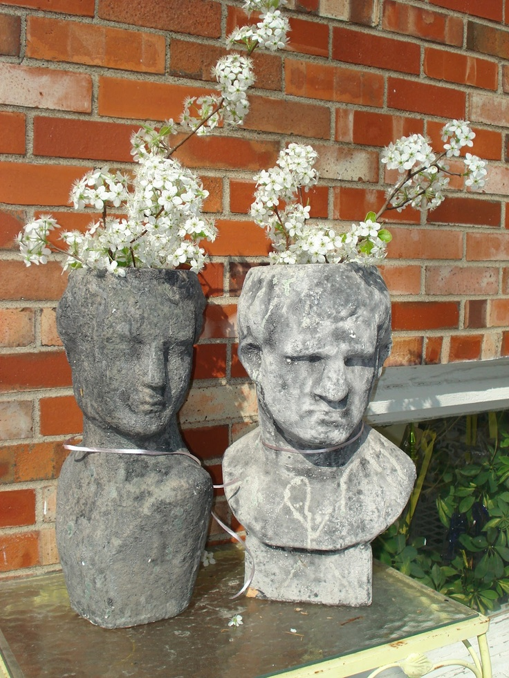 17 Best Images About Garden Ladies Heads Faces On