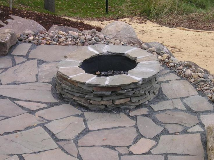 9 best fire pit ideas images on pinterest | backyard ideas, fire ... - Rock Patio Ideas