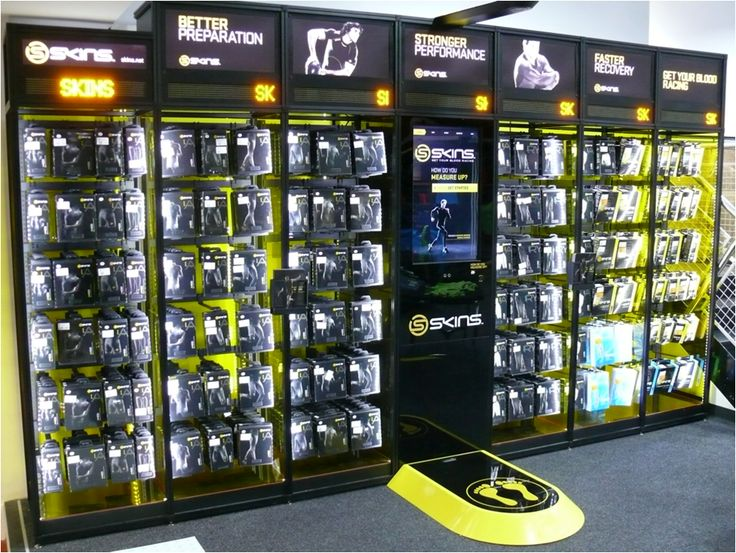 Athletic footwear display - acts as a silent salesperson to provide the best fit and right option for each individual athlete. The display measures the shoppers foot and makes a recommendation based on foot size/shape and activities that the shopper wants the shoe for. Won 2 POPAI Golds.