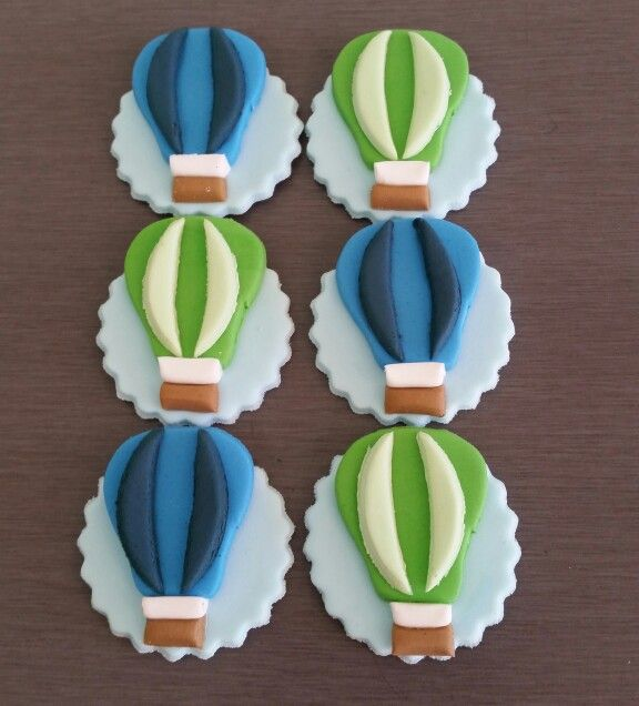 Hot Air Balloon Cupcake toppers and Cake toppers