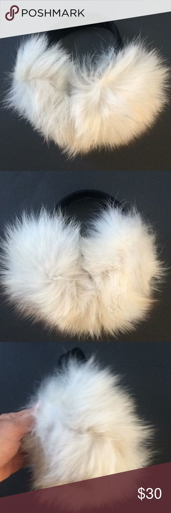 FOX FUR EAR MUFFS Super cute real fox firm ear muffs, Warm