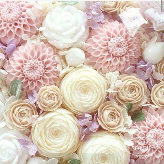 Pastel Flower Soaps