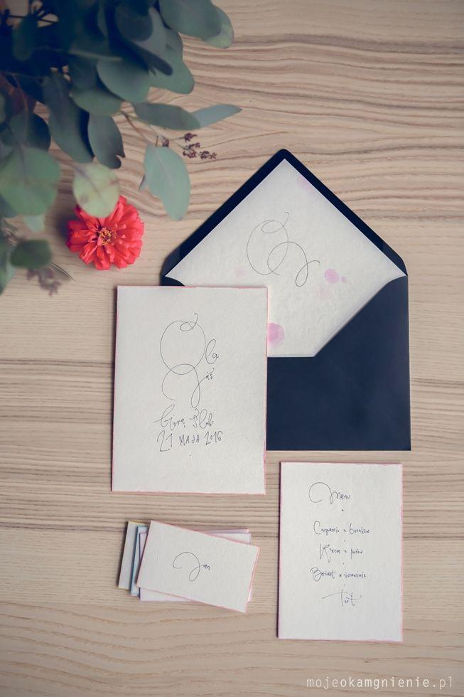 wedding set by HELLO calligraphy .Małgosia Małecka. // photo by Agata Grządzielska