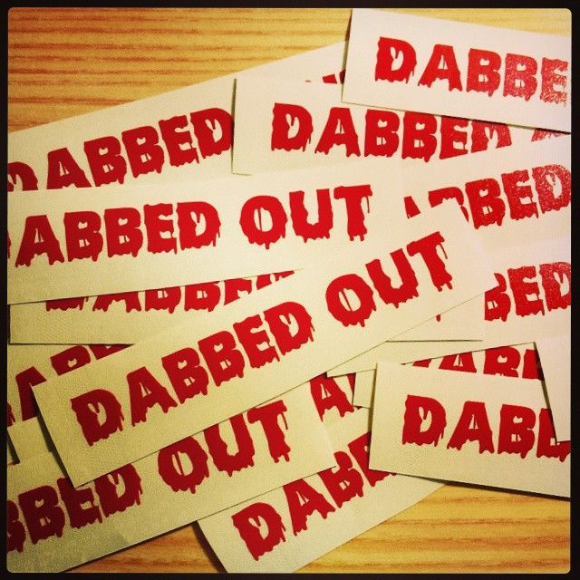 Get your dabbed out slaps and decals for just $1! Kik: graphxcreations or email graphxcreations@gmail.com Also ask us about custom decals and designs #stickers #slaps #decals #logo #customdesign #graphxcreations #instalike #dabs #dabbedout #drips #shatterday #halloween #dabbersdaily #smokeshop #headshop #vapeshop