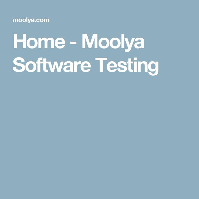 Home - Moolya Software Testing