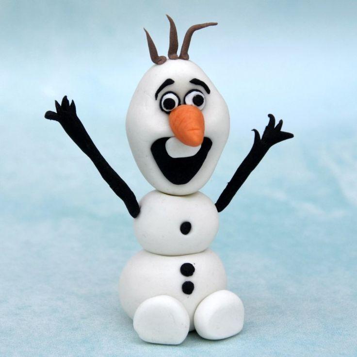 Olaf, a hóember figura készítése fondantból - részletes útmutató fázisfotókkal  Olaf, the snowman from fondant tutorial