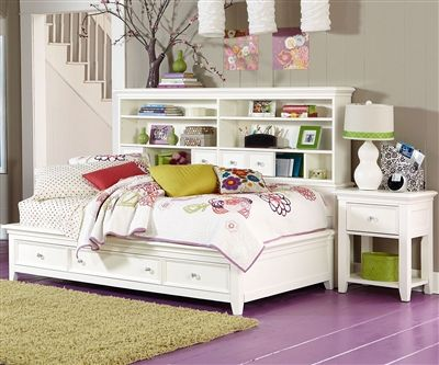 Willow Run Twin Sideways Storage Bed White Ekidsrooms